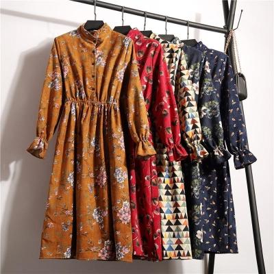 Aline Dress Floral Pattern Midi Dress Ten colors for you