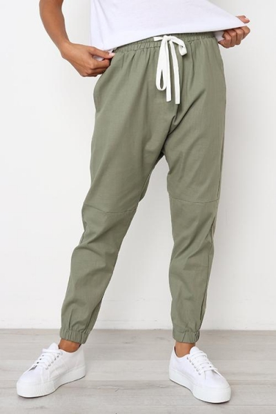 Ladies Casual Drawstring Sports Pants