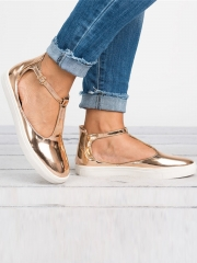 Casual Ankle Strap Buckle Flats