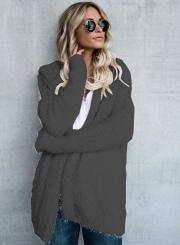 Sugar Girl Khaki Faux Fur Coat