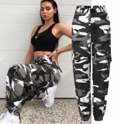 Loose Camouflage Denim Pants