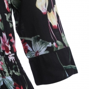 Button up Split Floral Print Flowy Party Maxi Dress
