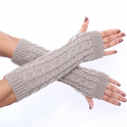 Hand Crochet Winter Warm Fingerless Arm Warmers Gloves