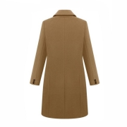 Double-breasted Lapel Peaked Tailored Coat