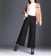 Plus Size Cropped Curvy Fit Wide Leg Pants