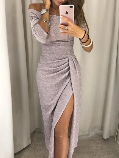 Sexy Off Shoulder Sparkling Bodycon Cocktail  Evening Dresses STYLESIMO.com