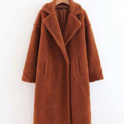 Teddy Bear Coat Winter Warm Faux Fur Coat