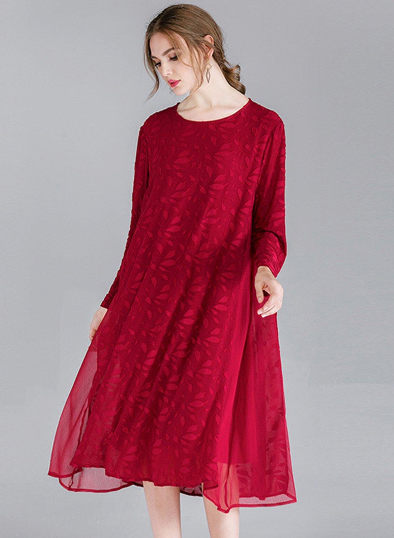 edf7912e064 Dress丨Plus Size Lace Dress STYLESIMO.com. Loading zoom