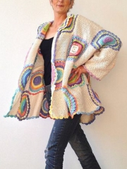 Casual Long Sleeve Plus Size Sweater Coat