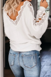 The Snuggle Is Real Lace Sweater(3 Colors)