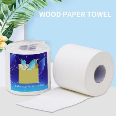 White soft toilet paper
