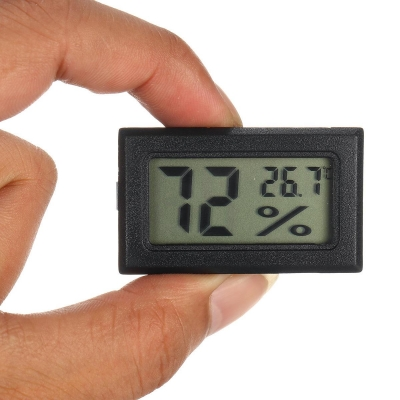 DC1.5V Mini Electronic Thermometer Hygrometer Portable LCD Digital Humidity Temperature Monitor - White