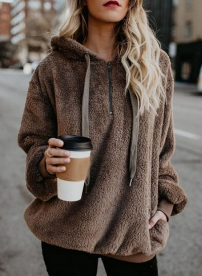 Chunky Loose Hooded Coat
