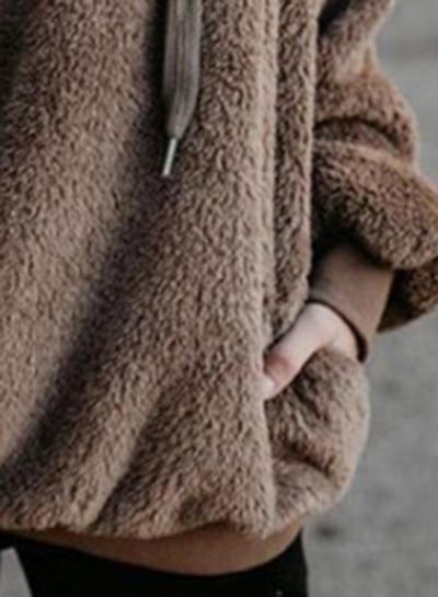 Chunky Loose Hooded Coat stylesimo.com