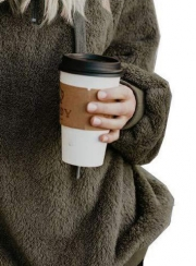 Casual Long Sleeve Loose Sweatshirt Hooded With Pockets