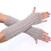 Hand Crochet Winter Warm Fingerless Arm Warmers Gloves