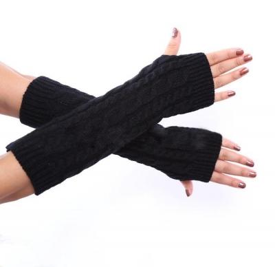 Hand Crochet Winter Warm Fingerless Arm Warmers Gloves stylesimo.com