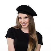 Wool Black Beret Hat - French Beret
