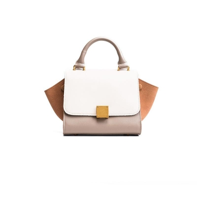 Splicing Color Folded wing Handbag