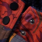 Fashion Ethnic Boho Print Inner Cotton Coat