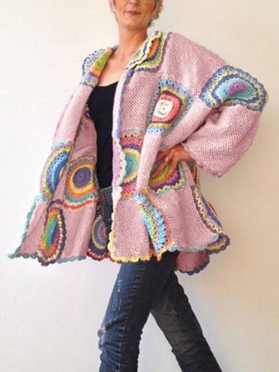 Casual Long Sleeve Plus Size Sweater Coat stylesimo.com