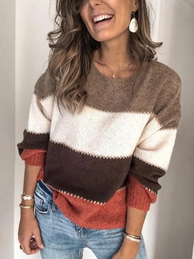 Plus Size Long Sleeve Casual Sweater stylesimo.com