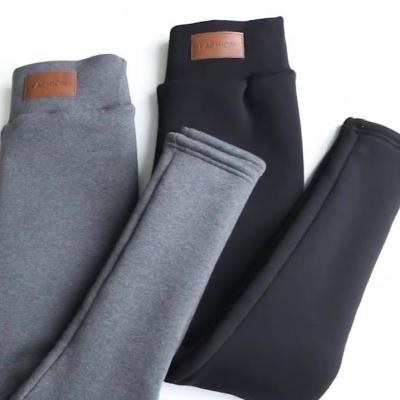 warm pants winter skinny thick velvet wool fleece leggings